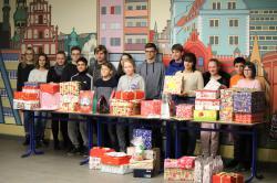 Pestalozzischule unterstützt Weihnachtspäckchenaktion von